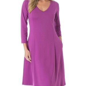ROAMAN'S 3/4 sleeve pink plus size dress 20W